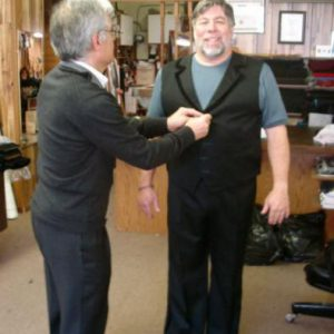 Getting fitted for Tango Outfit